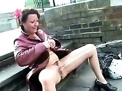Mature British Woman Peeing In Public