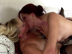 Granny and COUGAR fuck and piss on each other