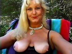 Mature Goddess Lynn Poked Poolside