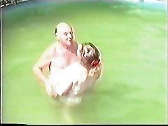 Older duo having Sex in The Pool Part 1 Wear Tweed