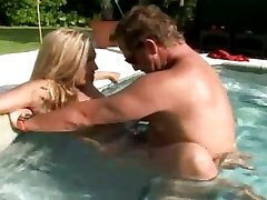 Good-sized boobed hot mom Jazella Moore gets fucked just right in the pool