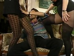 MFF Steve got involved with two hot cougars in pantyhose