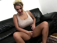 Big breasted mom tears up in POV style