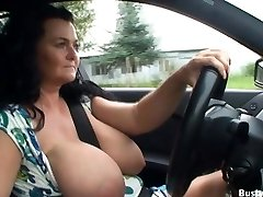 Van driving and public flashing