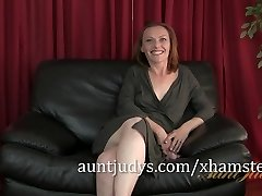 Redheaded COUGAR Amber is Aunt Judy's Newest Beauty