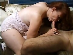 Red-haired granny gets active