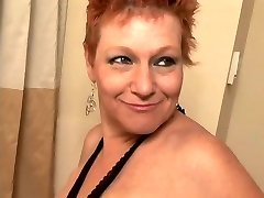 Enormous Cut Redhead Granny Drilled