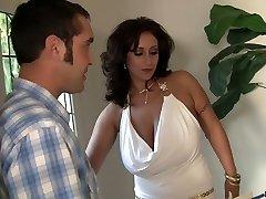 Huge breasted MILF Eva Notty anilingus her man before hardcore fuck
