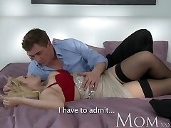 MOM Blonde dating single MOM just wants to sense a large dick inwards