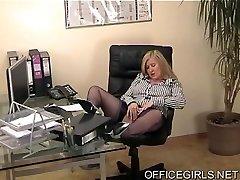 Round Secretary In Blue Silk Stockings