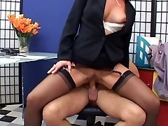Elegant mature secretary boned