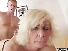 German grandmother boinks hard
