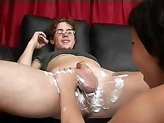Mommy Shaves Then Blows Fellow's Cock