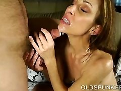 Super gorgeous skinny old spunker is a very hot fuck