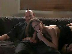 Lisa sucks a rock hard cock while smoking