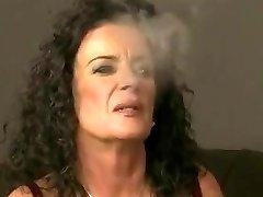 Mature smoking and a youthfull lady
