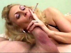 Scorching Mature Blonde Smoking Blowjob (short pinch)