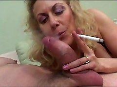 Grannie Oral Job and Smoking