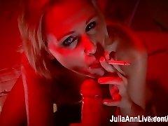 Busty Blonde Milf Julia Ann Gives Smoking BJ!