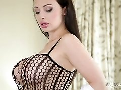 Sexy mother Aletta Ocean in hot stroking solo compilation