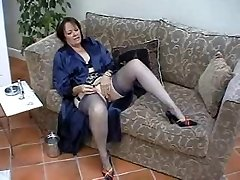 Suzie Mature Solo in Pantyhose