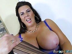 EuropeMaturE Big-boobed Grannie Lulu Solo Masturbation