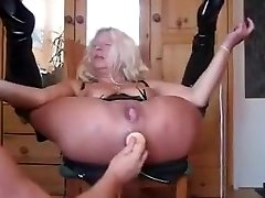 Granny Dumps Like Crazy from Ass Fucking
