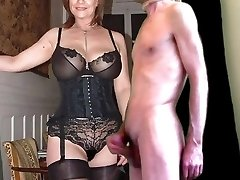 cuckold cum for mature huge-boobed wife in tights
