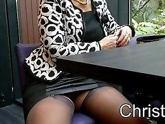 Christina displaying
