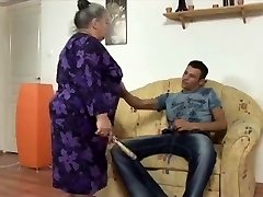 big beautiful nymph grannie takes youthful strapon