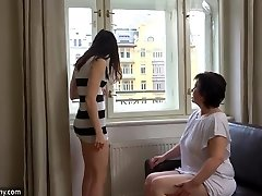 OldNanny Sexy damsel masturbate hairy grandmother pussy