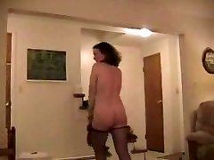 Mature Striptease before a Hummer