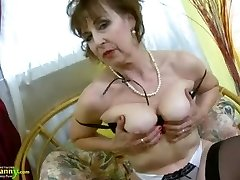 OldNannY Hot Wild Granny Seductive Striptease