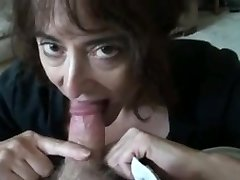 mature wife sucking petite spear and swallows
