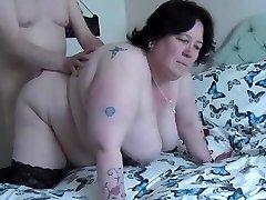 Poking PLUS-SIZE doggy, swinging tits2