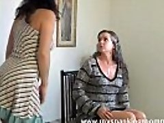 BUSTY DAUGHTER-IN-LAW GET SPANKED BY MOM OTK