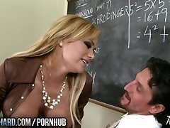 Hot milf plumbs teacher