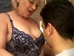 Mature Italian schoolteacher with schoolgirl