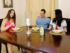 Brother Fucks Sister-in-law in Front of MILF Mother