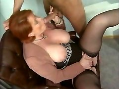 Kira Red - German Mature nailed in the Office