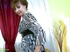 OldNannY Hot Kinky Grandma Provocative Striptease