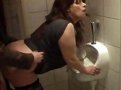 fuckslut fuckin'  kathy in my local pub rest room