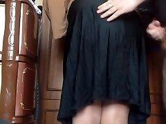 Cum my mommy micro-skirt