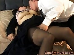 Japanese mature doll has hot sex
