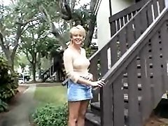 Large blonde mommy and a petite black guy