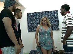 Harsh mature biotch Karen Summer gets gangbanged like never before