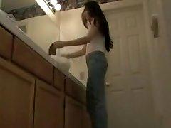 Mom secretly filmed in erotic underwear