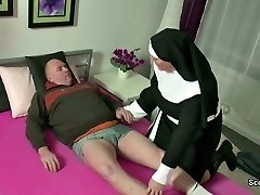 German Milf Nun Fuck With Stranger Old Fellow