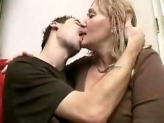Mature ladies pegs young man with strap on dildo