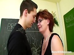 Red-haired Mature Instructor Sex In Detention Class